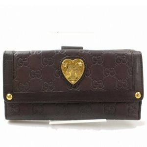 100% Auth Gucci Long Guccissima Heart Wallet
